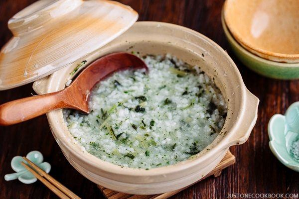 Nanakusa Gayu (Japanese Seven Herb Rice Porridge) 七草粥 | Easy Japanese Recipes at JustOneCookbook.com