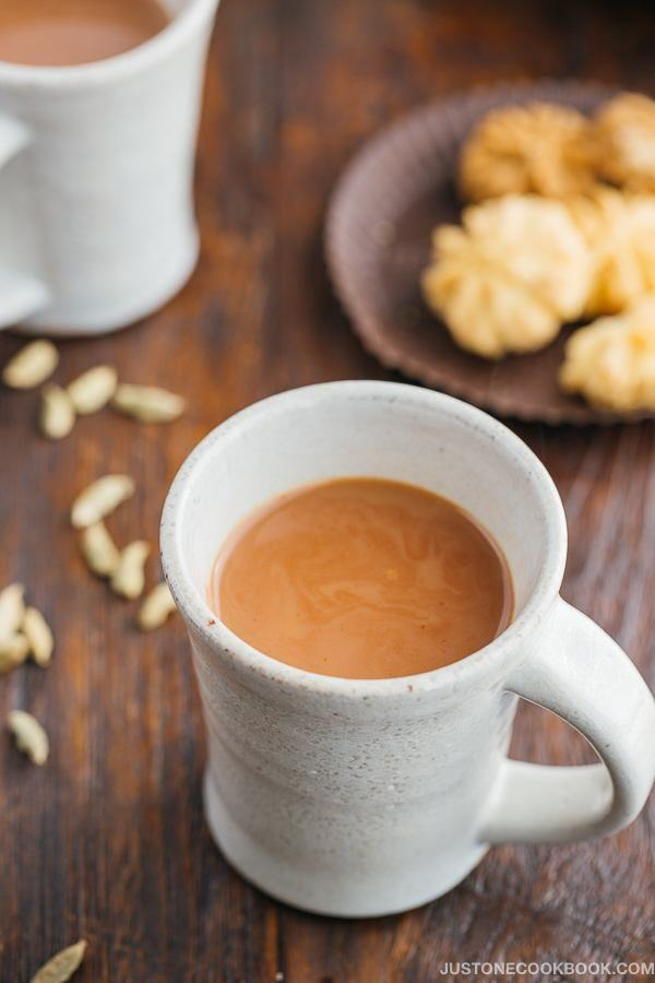 Masala Chai Indian Spiced Milk Tea Just One Cookbook