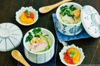 Chawanmushi with Shrimp 海老の茶碗蒸し