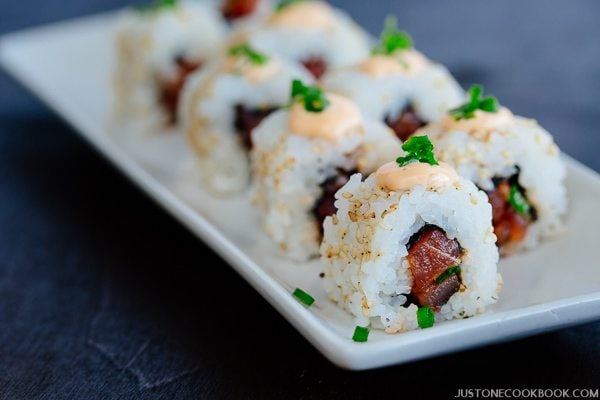spicy tuna roll ������������ � just one cookbook