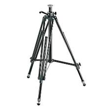 Manfrotto 028B Black Aluminum Studio Pro Triman Tripod with Geared Column