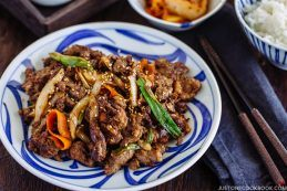Bulgogi (Korean Grilled Beef) プルコギ | JustOneCookbook.com