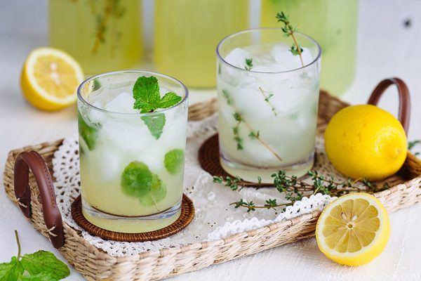 Homemade Lemonade (Classic, Mint, and Thyme) | Easy Japanese Recipes at JustOneCookbook.com