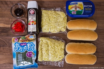 Yakisoba Pan Ingredients