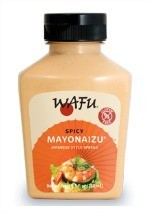 WAFU Spicy Mayo in a bottle.