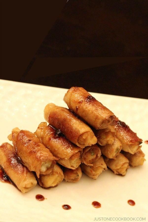 Mashed Potato Teriyaki Pork Rolls | JustOneCookbook.com