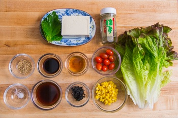 Tofu Salad with Ponzu Sesame Dressing Ingredients