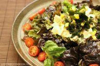 Tofu Salad with Sesame Ponzu Dressing 豆腐サラダ