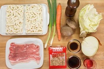 Yaki Udon Ingredients