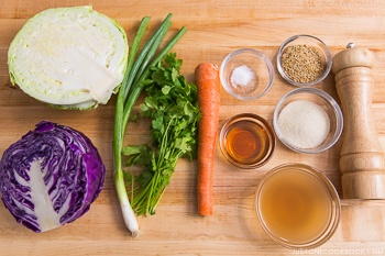 Asian Coleslaw Ingredients