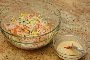 Crab Salad with Ponzu Mayo Dressing 3