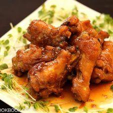 Orange Teriyaki Chicken Drumettes on a plate.
