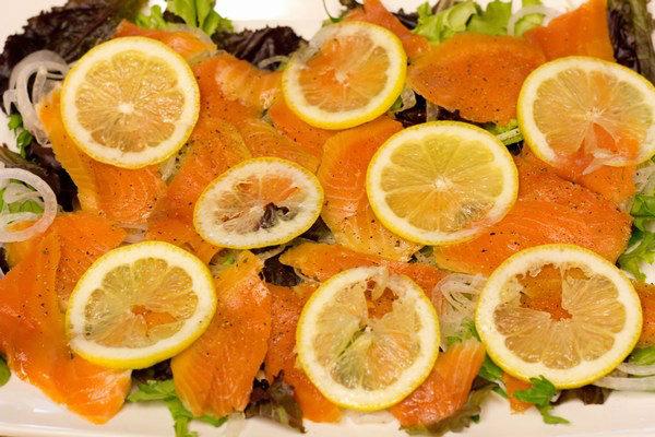 Smoked Salmon Salad with Lemon Vinaigrette 7