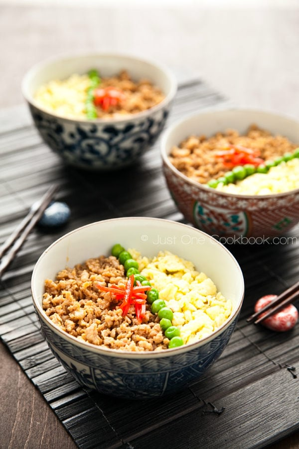Soboro Don in bowls.