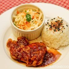 Chicken with Garlic Onion Sauce   Easy Japanese Recipes at JustOneCookbook.com