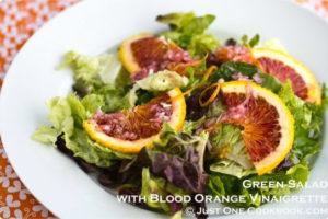 Green Salad with Blood Orange Vinaigrette