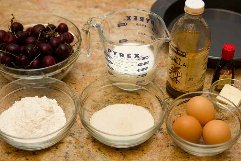 Cherry Clafoutis Ingredients
