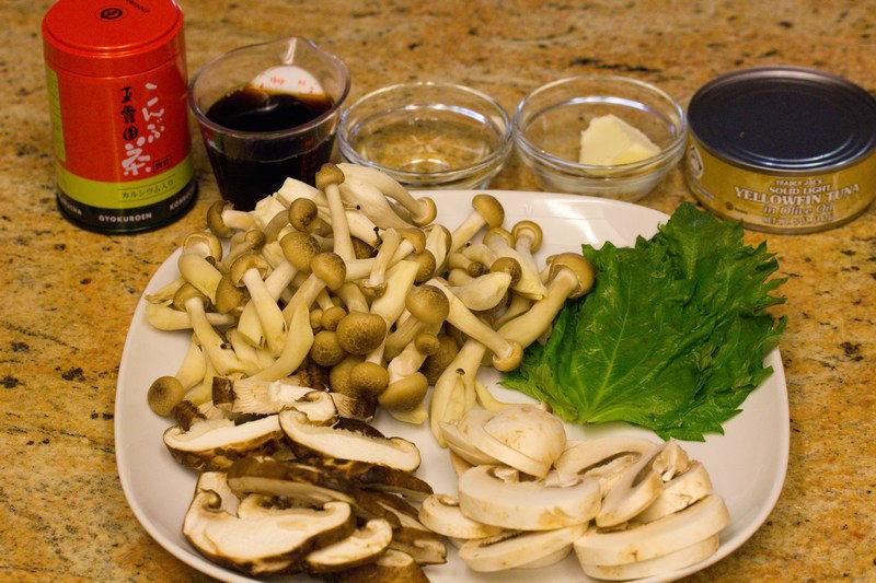 Japanese Style Mushroom & Tuna Pasta 1