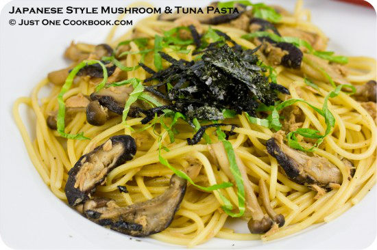 Japanese Style Mushroom & Tuna Pasta | Easy Japanese Recipes at JustOneCookbook.com