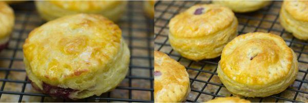 mini fruit puff pastry on wire rack