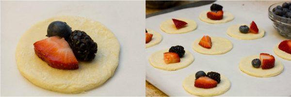 Mini Fruit Puff Pastry with Lemon Glaze 5