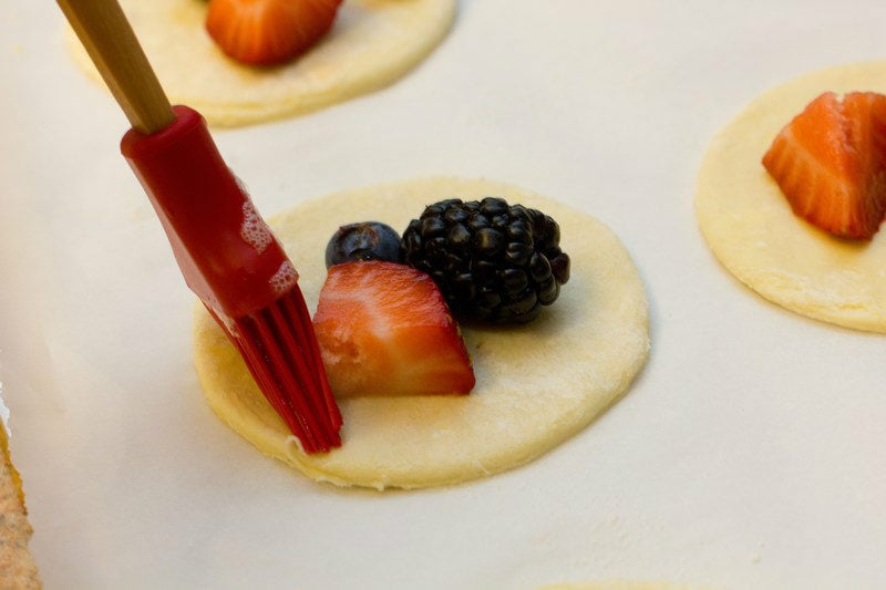 Mini Fruit Puff Pastry with Lemon Glaze 6