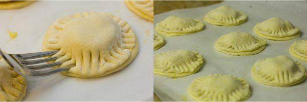 puff pastry shell on top of parchment paper