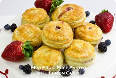Mini Fruit Puff Pastry with Lemon Glaze II