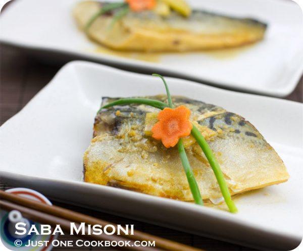 Saba Misoni on plates.
