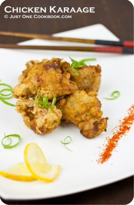 Chicken Karaage on a plate.