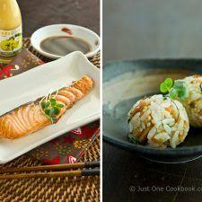 Broiled Salmon & Salmon Onigiri