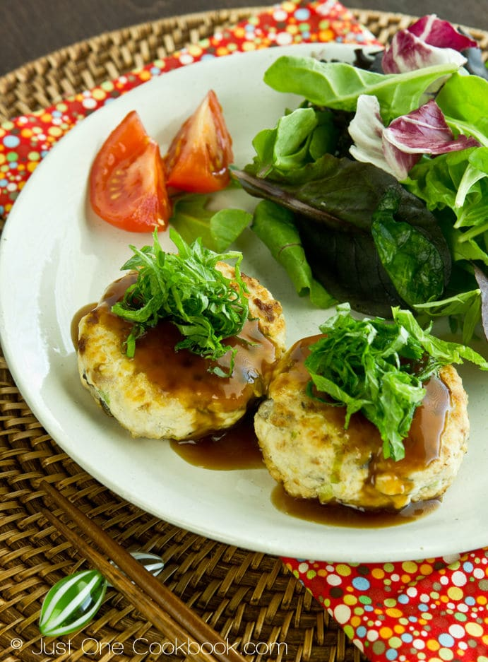 Chicken & Tofu Hamburger Steak | Easy Japanese Recipes at JustOneCookbook.com