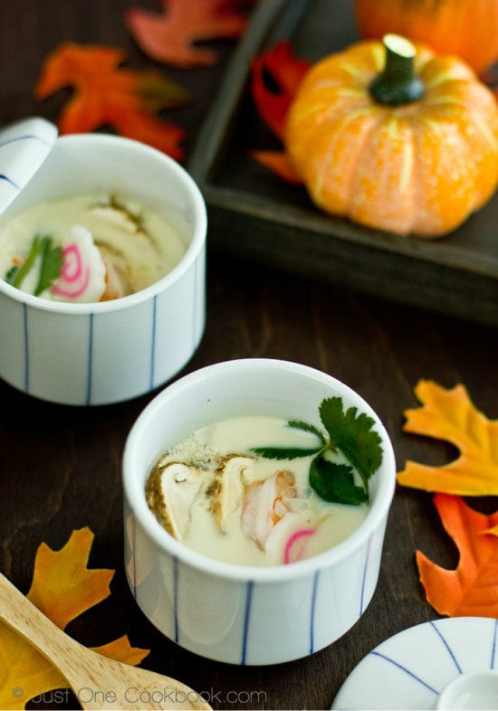 Chawanmushi with Matsutake Mushroom in cups.