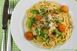 Chicken Scallopini with Lemon Butter Pasta | JustOneCookbook.com