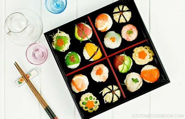 Temari Sushi in a box.