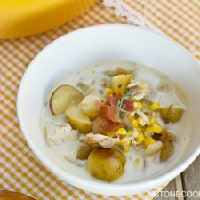 Chicken & Corn Chowder チキンとコーンのチャウダー | Easy Japanese Recipes at JustOneCookbook.com