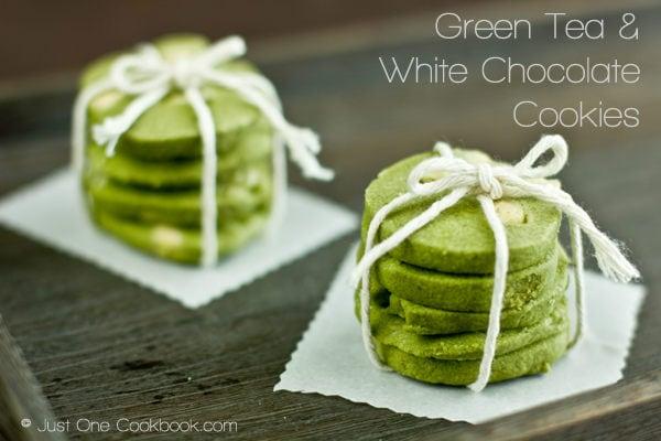 Green Tea & White Chocolate Cookies