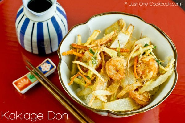 Kakiage Don Recipe | JustOneCookbook.com