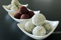 Matcha and White Chocolate Truffles – Guest Post By With a Glass