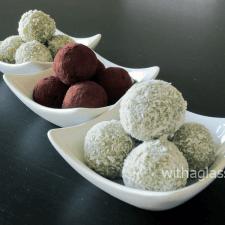 Matcha and White Chocolate Truffles