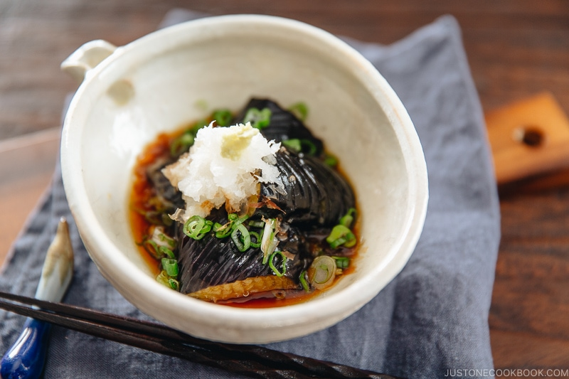 Eggplant Agebitashi | Easy Japanese Recipes at JustOneCookbook.com