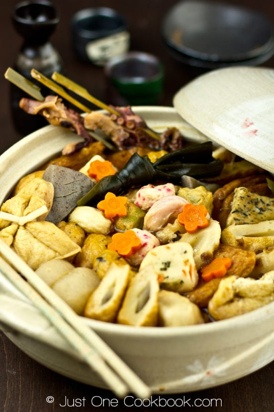 Oden in a pot.