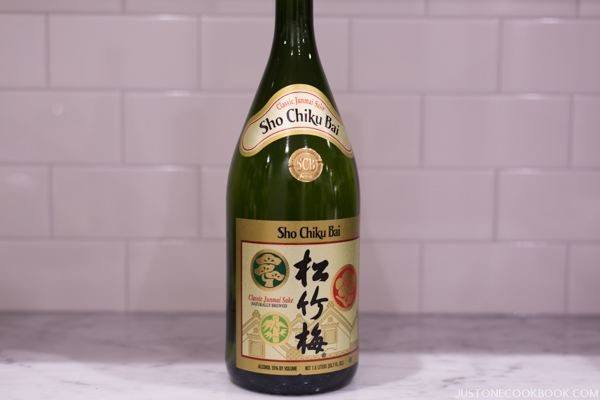 Sake in a bottle.