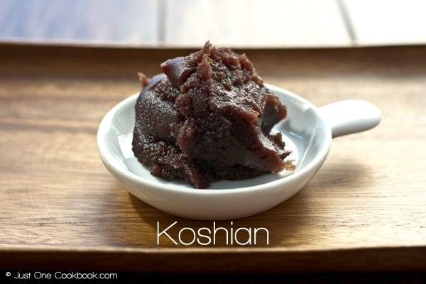 Koshian (smooth red bean paste)