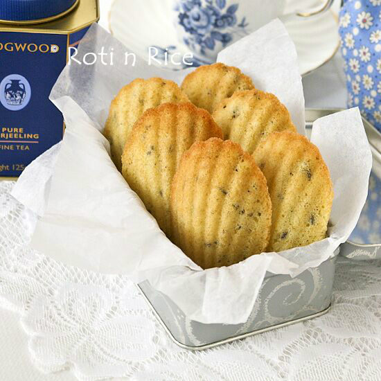Lavender Madeleines in a box.