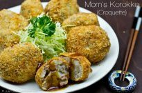 Mom's Korokke (Potato & Meat Croquettes) コロッケ