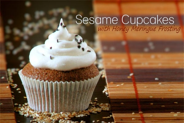 Sesame Cupcakes with Honey Meringue Recipe | JustOneCookbook.com