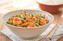 Stir Fried Shrimp & Asparagus in Black Bean Sauce – Guest Post By Wok With Ray
