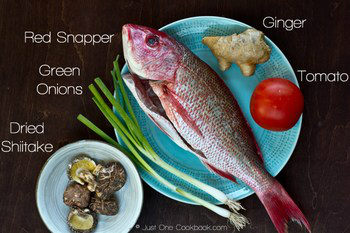 Cantonese Steamed Fish Ingredients