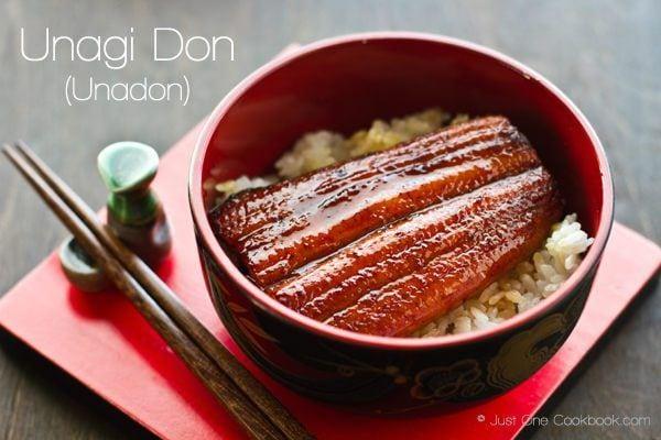 Unagi Don in a bowl.
